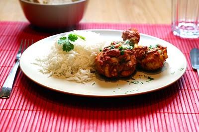 Jamoncitos de pollo tandoori