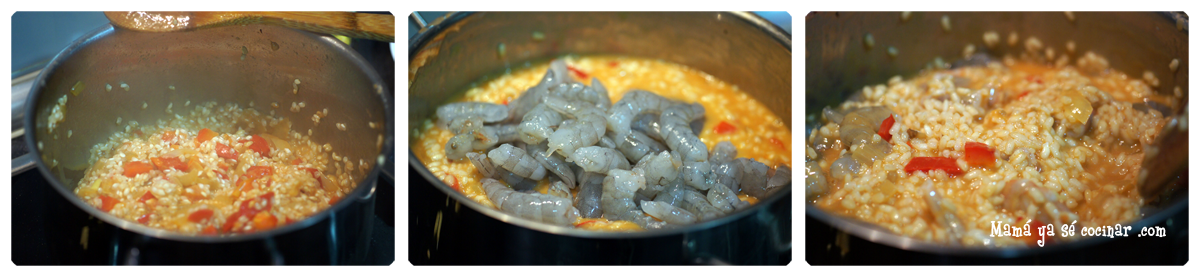arroz cremoso marisco2 Arroz cremoso con marisco