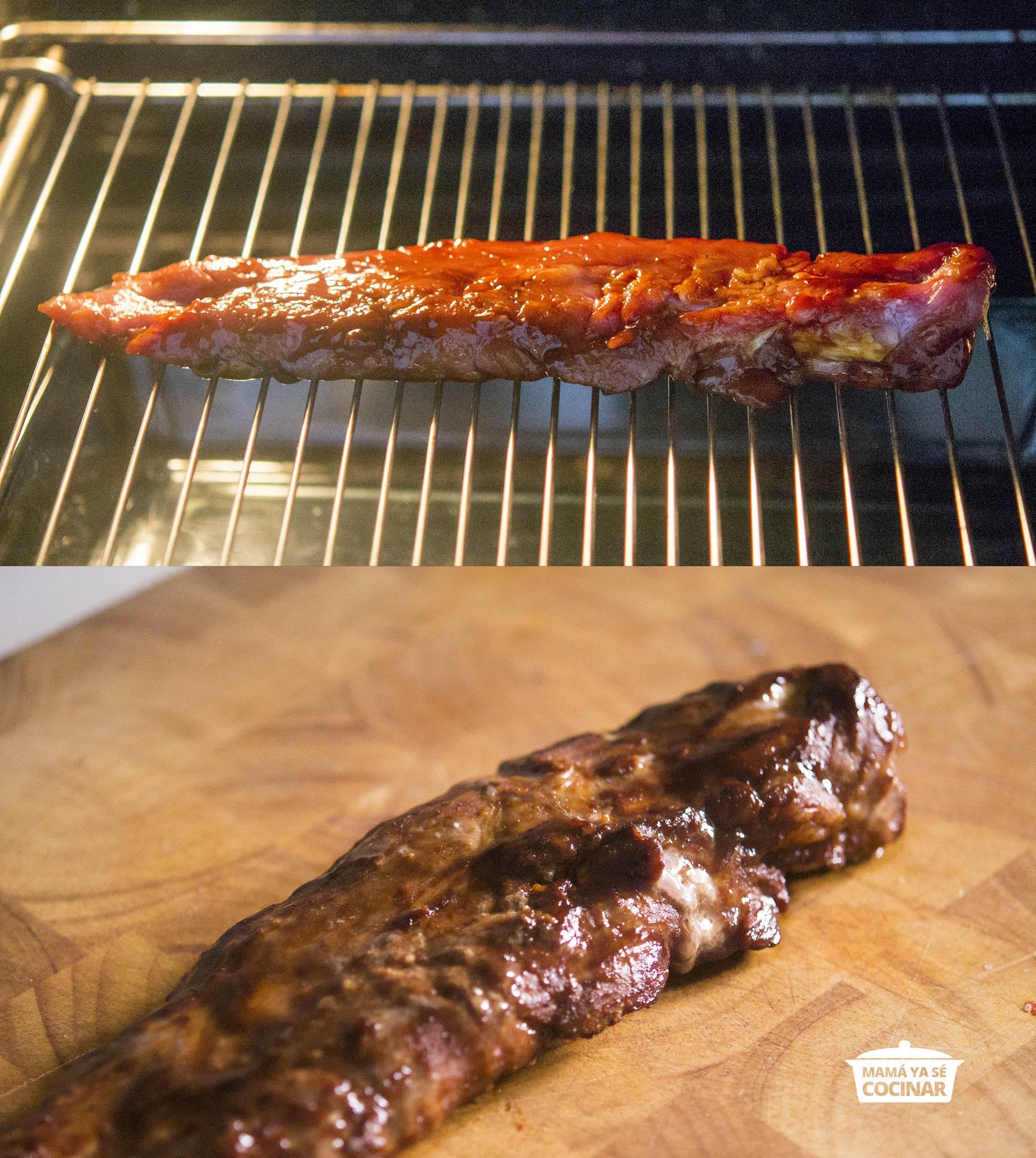 cerdo asado estilo chino con ketchup al char siu