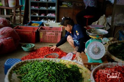 conocer la cocina tailandesa - chiles