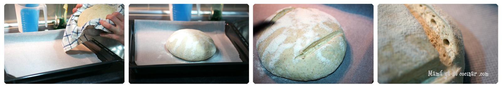 pan4 Hogaza de pan con masa madre