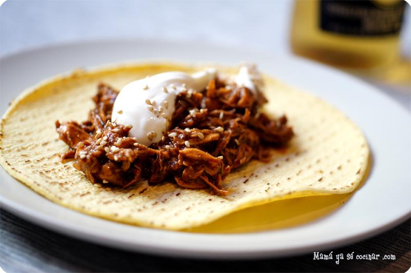 Mole de Pollo Mexicano Tacos de Pollo Con Mole