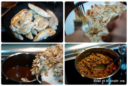 tacos de pollo con mole poblano paso a paso